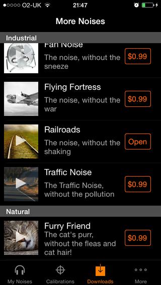 The myNoise iOS App - User Guide
